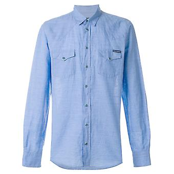 Dolce E Gabbana men's G5EX7TFU4GKB1581 light blue cotton shirt