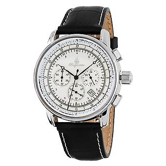 Burgmeister BM332-182 Tessin, Gents watch, Analogue display, Chronograph with Citizen Movement - Water resistant, Stylish leather strap, Classic men's watch