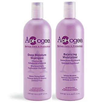 ApHogee Deep Moisture Shampoo and Balancing Moisturizer by Aphogee