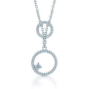 Orphelia Silver 925  Chain With Pendant Circles Zirconium  ZK-7261