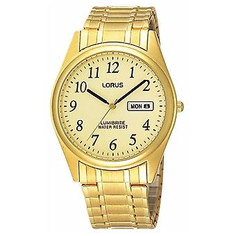 Lorus Gold Plated Expanding Bracelet RXN98AX9 Watch