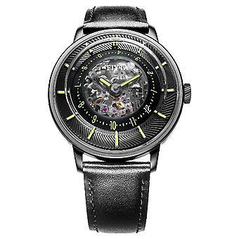 FIYTA メンズ 3 D 時間自動鉄メッキ緑 WGA868002。BBB 時計