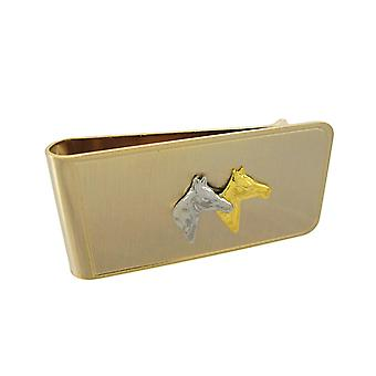 Gold Plated Thoroughbred Horse Money Clip