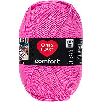 Red Heart Comfort Yarn-Hot Pink