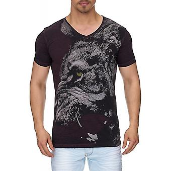 Tazzio fashion men's T-Shirt with front print Yellow