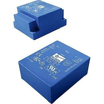PCB mount transformer 2 x 115 V 2 x 18 V AC 4 VA 111 mA FL 4/18 Block
