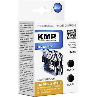 KMP Ink set replaced Brother LC-223BK Compatible Pack of 2 Black B48D 1529,0021