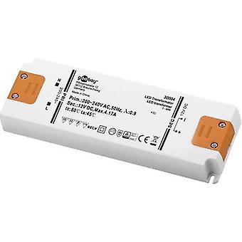 Goobay SET 12-50 LED slim LED transformer Constant voltage 50 W 4.1 A 12 Vdc Approved for use on furniture