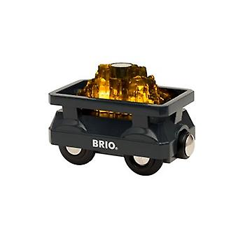 BRIO Light Up Gold Wagon 33896 Wooden Railway Extra Wagon