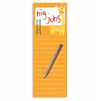 Big Jobs Magnetic To-Do Lists Notepad