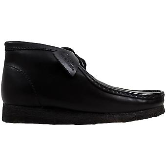 Clarks Wallabee Boot Black Leather 26103666