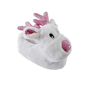 Kids Small 9/10 Children's Rudolf Novelty Slippers UK Sizes Warm Cosy Gift Christmas