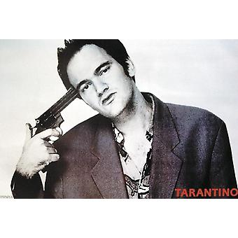Quentin Tarantino Poster  picture pointing gun against head