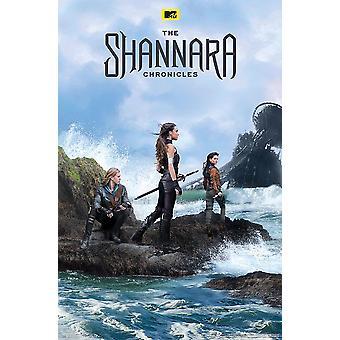 The Shannara Cronicles poster Austin Butler, poppy Drayton, Ivana Baquero.