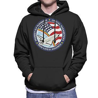 NASA STS 61B Space Shuttle Atlantis Mission Patch Men's Hooded Sweatshirt