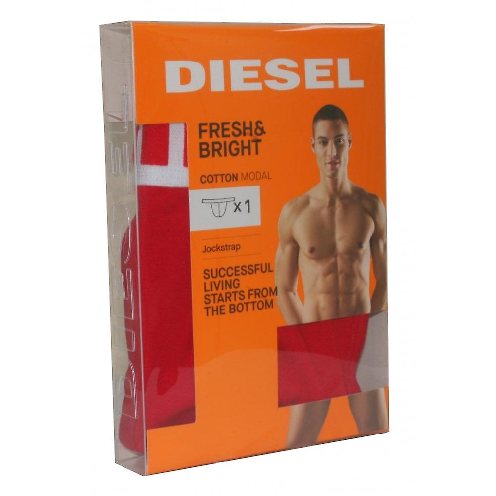 Diesel Fresh & Bright Cotton Modal Jockstrap, Red