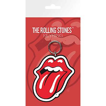 The Rolling Stones Keyring Keychain Classic Tongue Band Logo new Official Rubber