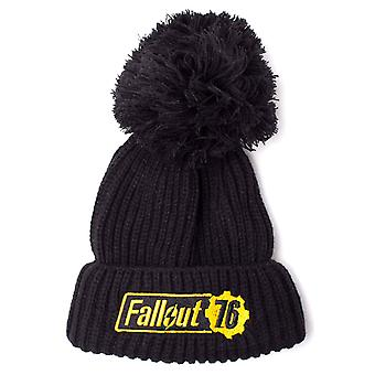 Fallout Beanie Hat Fallout 76 Logo Bobble new Official PS4 Xbox Black