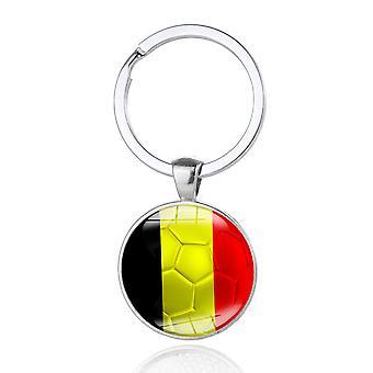TRIXES Belgia flagg svart gul rød metall nøkkelring
