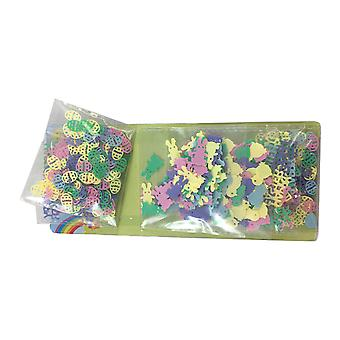6PC Pack of Pastel Assorted Designs Easter Confetti TRIXES