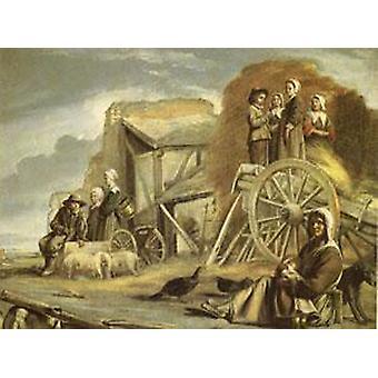 العربة أو العودة من هايماكينج، لويس Le نائين، 50x40cm