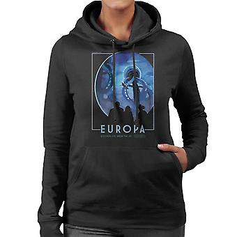 NASA Europa Interplanetary Travel Poster Women's Hooded Sweatshirt