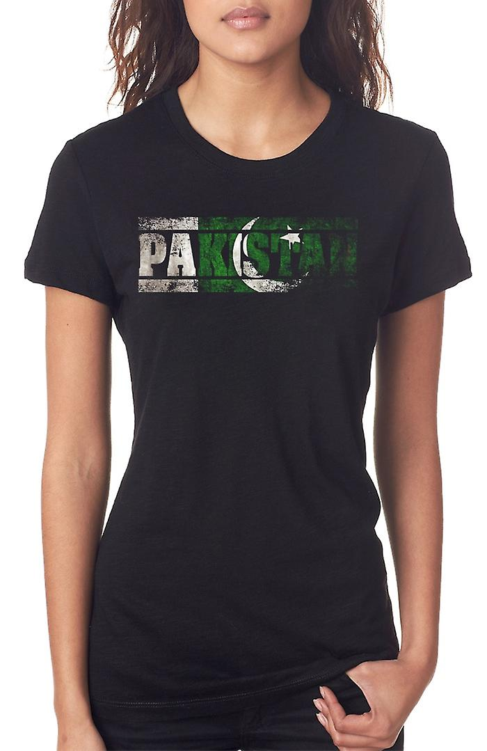 Bandiera Pakistan - parole Ladies T Shirt