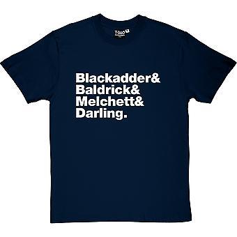 Blackadder Line-Up Men's T-Shirt