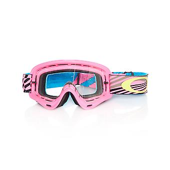 Oakley Wind Tunnel Pink-Clear 2019 XS O Frame Kids MX Goggle