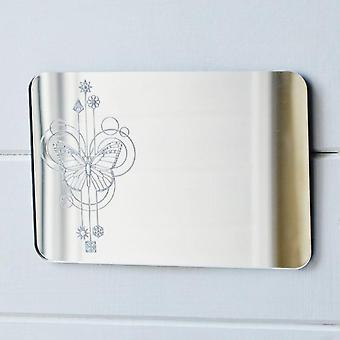 Butterfly Decorative Rectangle Acrylic Mirror