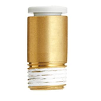 SMC Pneumatic Straight Threaded-To-Tube Adapter, R 1/4 Male, Push In 8 Mm
