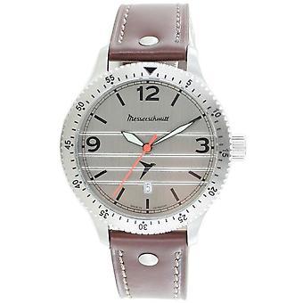 Aristo Herren Messerschmitt Uhr Fliegeruhr M-20-1 / BFW-M20 Leder