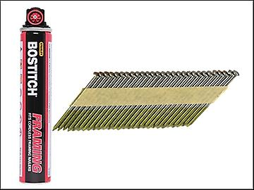 Bostitch 3.1 x 90mm Paper Tape 33° Nails & Fuel Smooth Shank Plain (2200)