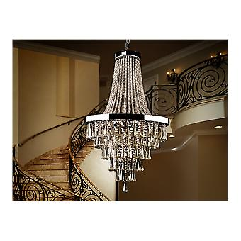 Schuller Traditional Chrome Ceiling Chandelier 22 Lights