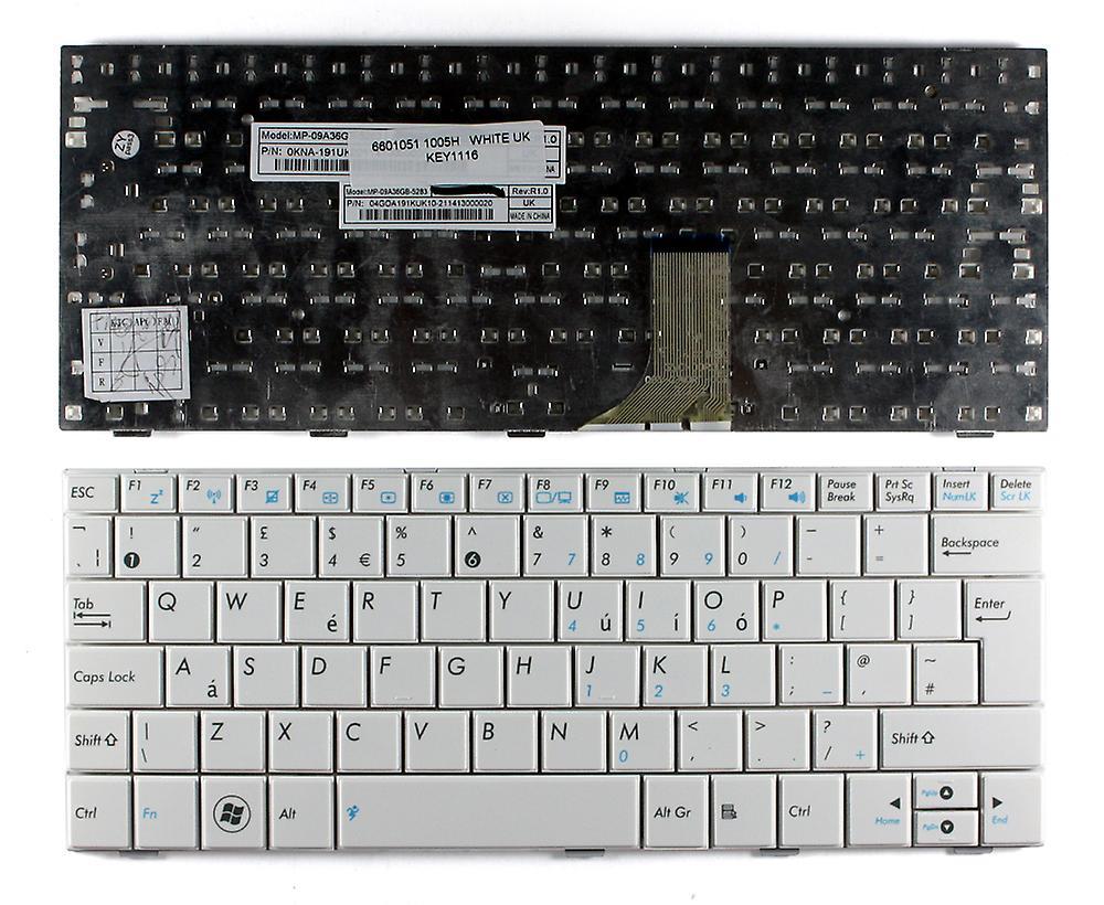 Asus Eee PC 1005 ha-PU1X-BK blanc UK Layout remplaceHommest clavier d'ordinateur portable