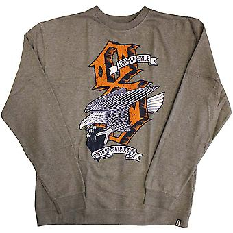 REBEL8 Dukes of Destruction Men's Crewneck Sweatshirt Gun Metal