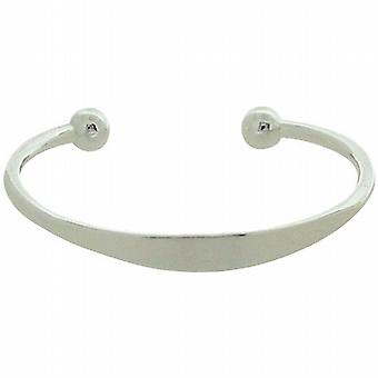 TOC Girls Sterling Silver Identity Torque Bangle Bracelet