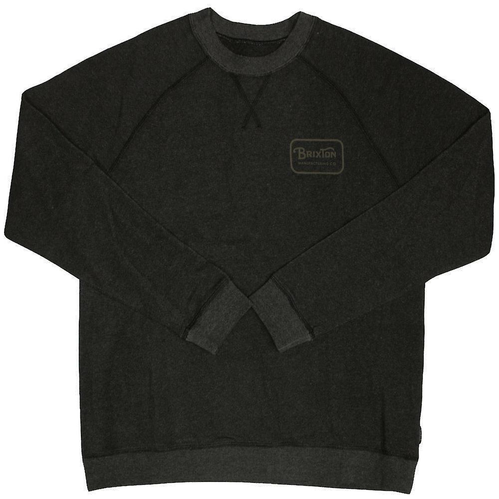 Brixton Grade Sweatshirt Heather Black