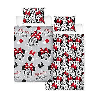 Minnie Mouse Cute Duvet Cover and Pillowcase Set