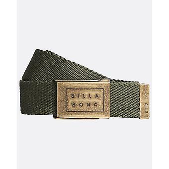 Billabong Woven Cotton Web Belt With Bottle Opener ~ Sergeant dark military