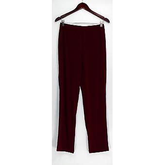 Susan Graver Pants Essentials Reg LiquidKnit Straight Leg Red A228083