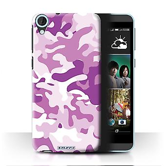 STUFF4/Housse pour HTC Desire 820/rose 1/Camouflage Army Navy