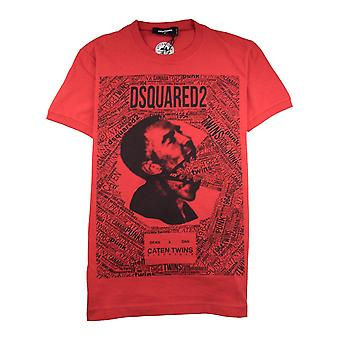 Dsquared2 Caten Twins Mouth Tee Red