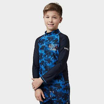 New Regatta Boy's Hobey Swimming Long Sleeve Tee Navy
