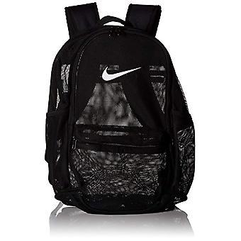 Nike Nk Brsla Mesh Bkpk - Zaini Unisex Adulto - Nero (Black/Black White) - 15x24x45 cm (W x H L)