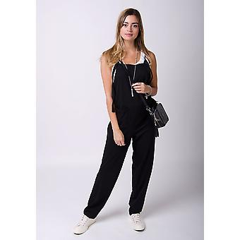 Mabel jersey jumpsuit in black
