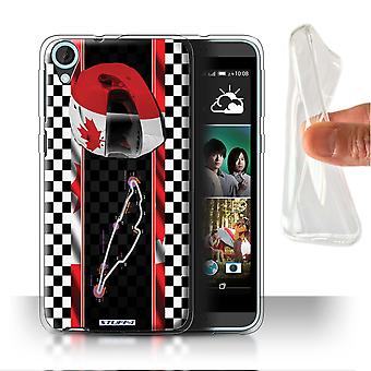 STUFF4 Gel/TPU Case/Cover for HTC Desire 820s Dual/Canada/Montr�al/F1 Track Flag