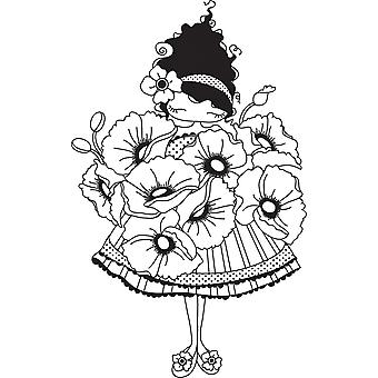 Stamping Bella Unmounted Rubber Stamp Lulu Loves Poppies Ll129