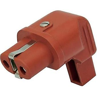 Hot wire connector ATT.LOV.SERIES_POWERCONNECTORS 344 Socket, right angle Total number of pins: 2 + PE 16 A Red Kalthof
