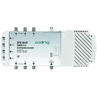SATT multiswitch Axing SPU 56-05 innganger (multiswitches): 5 (4 SAT/1 terrestrial) nr. deltakere: 6 Quad LNB compatib